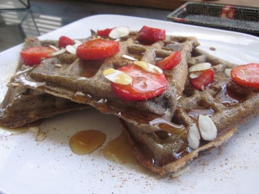 gluten-free vegan waffle